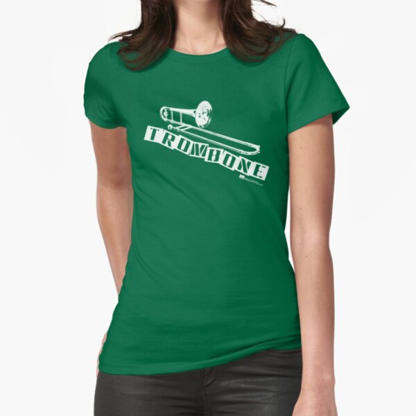 Label Me A Trombone (White Lettering) Fitted T-Shirt