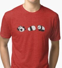 Tumbling Panda Bears (SET) Tri-blend T-Shirt