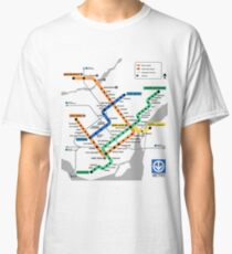 STM Montreal Metro - light background Classic T-Shirt