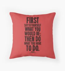 Do What You Have To Do Black Text T-shirts & Homewares Throw Pillow