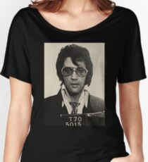 Elvis Presley mugshot Women's Relaxed Fit T-Shirt