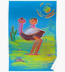 The Desert Ostrich and His Friend Poster