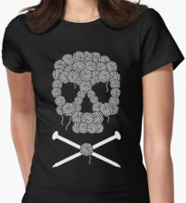KNITTERS sugar skull Women's Fitted T-Shirt