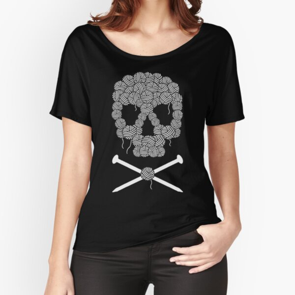 KNITTERS sugar skull Relaxed Fit T-Shirt