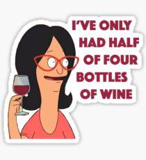 Half of four bottles Sticker