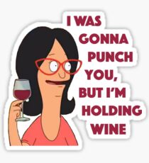 But i'm holding wine Sticker