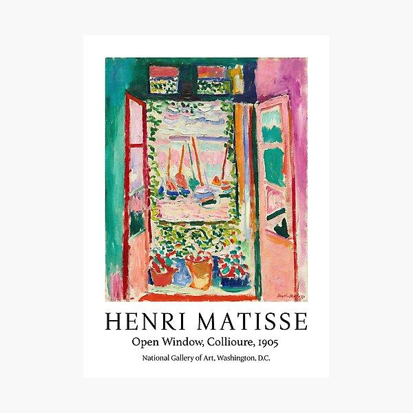 Henri Matisse Open window, Collioure exhibition art Photographic Print