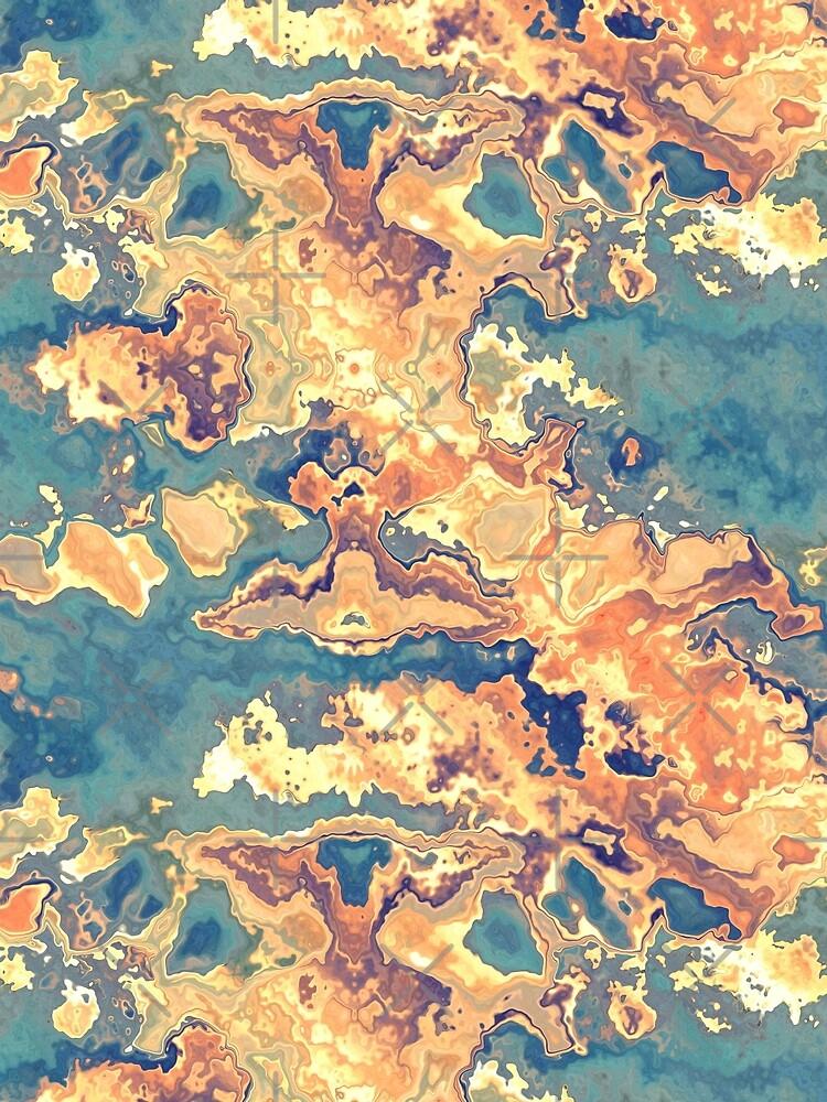 Digital Rust Abstract by perkinsdesigns