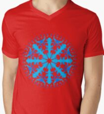 Christmas Mandala Mens V-Neck T-Shirt
