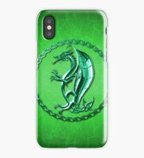 Green Celtic Dragon iPhone Case