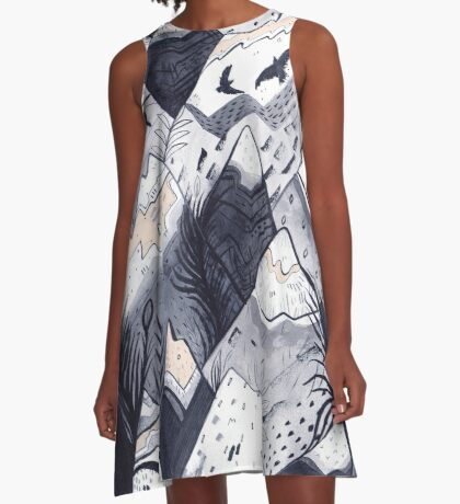 Mountains A-Line Dress