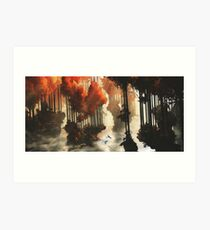 Autumn forests Art Print