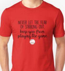Camiseta ajustada Nunca dejes que el miedo a golpear