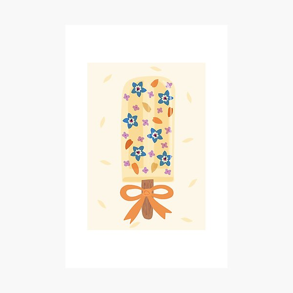Blooming Popsicle - Elder Fresh - illustration featuring edible flowers Photographic Print