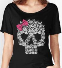 kitten sugar skull Women's Relaxed Fit T-Shirt