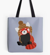 Collin the Beanie-Wearing Red Panda Tote Bag