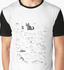 Sketchy Cats Graphic T-Shirt