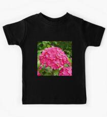 Pink Hydrangea Summer Flower Kids Tee