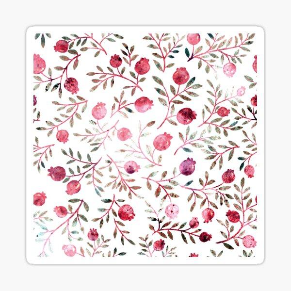 pomegranates pattern Sticker