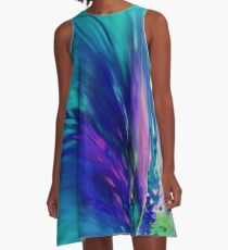 Peacock Paradise A-Line Dress