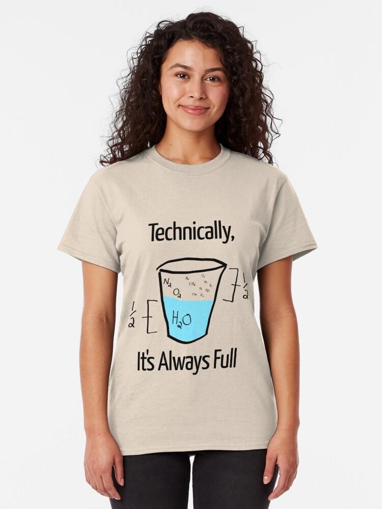 Alternative Ansicht von Die Wissenschaft ist optimistisch Classic T-Shirt