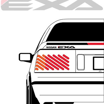 Nissan Exa Coupe - White by SEZGFX