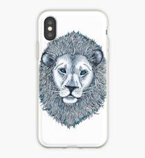 Blue Eyed Lion iPhone Case