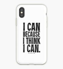 I Think I Can Black Text T-shirts & Homewares iPhone Case