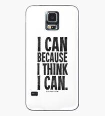 I Think I Can Black Text T-shirts & Homewares Case/Skin for Samsung Galaxy