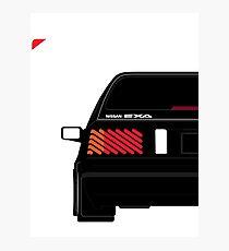 Nissan Exa Sportback - Black Photographic Print