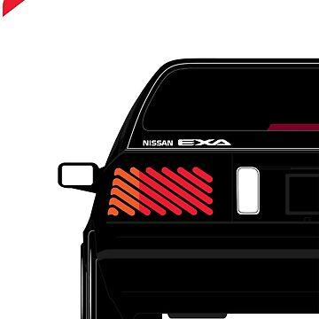 Nissan Exa Sportback - Black by SEZGFX