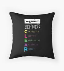 Veganism - The Choice is Clear Throw Pillow