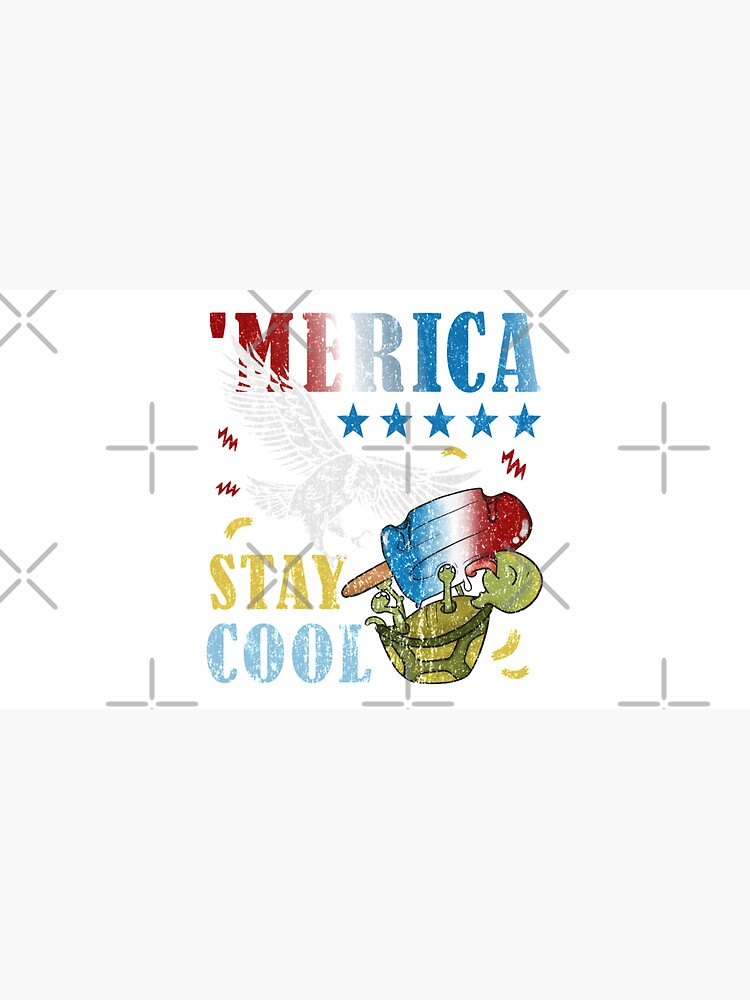 Merica Funny Eagle and Turtle Stay Cool Popsicle by CWartDesign