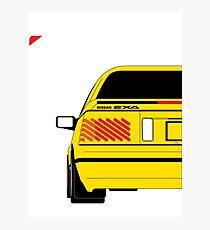 Nissan Exa Coupe - Yellow Photographic Print
