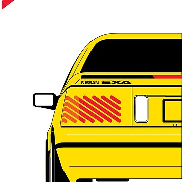Nissan Exa Coupe - Yellow by SEZGFX