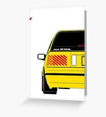 Nissan Exa Sportback - Yellow Greeting Card