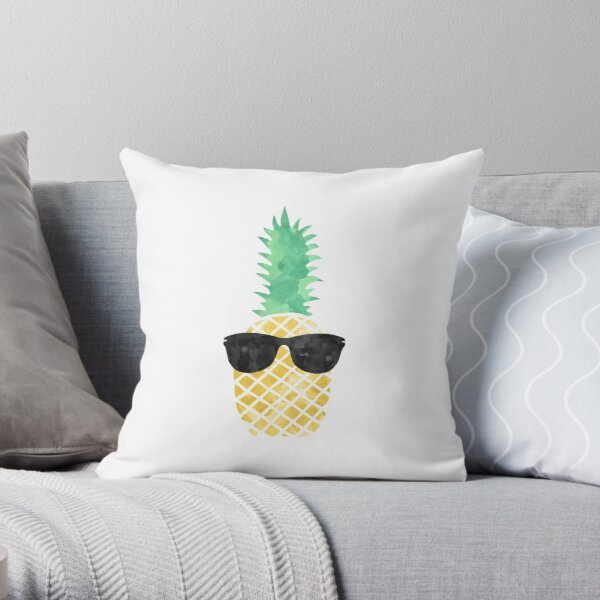 Sunglasses Pineapple Throw Pillow