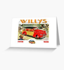 Willys Woody Wagon USA Greeting Card