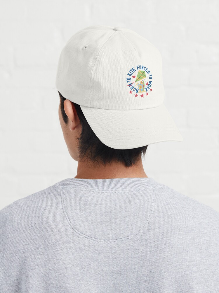 Alternate view of Born To Kite Forced To Work Kite and Surfing Lover Cap