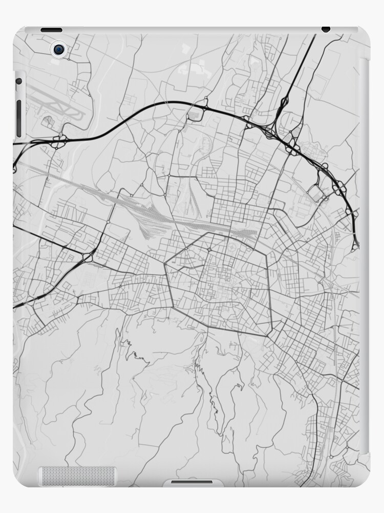 Map Of Italy Showing Bologna.Bologna Italy Map Black On White Ipad Case Skin By Graphical Maps