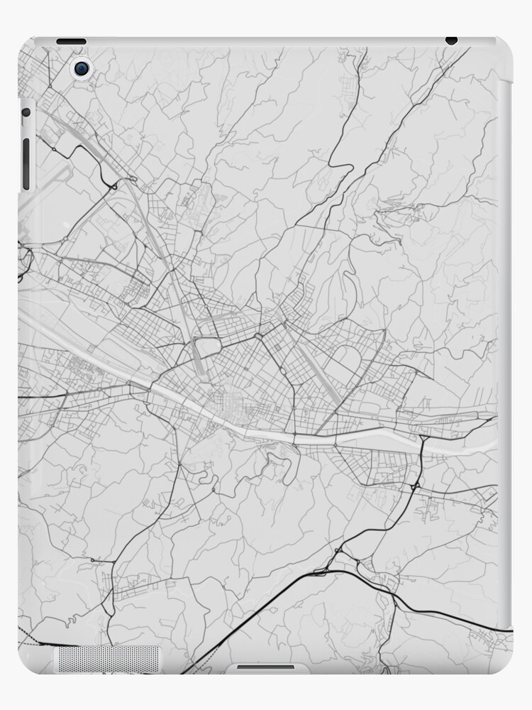 Map Of Italy To Color.Florence Italy Map Black On White Ipad Case Skin By Graphical Maps