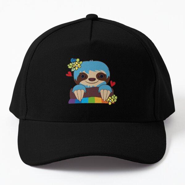 happy cute sloth emoji fan art  Baseball Cap