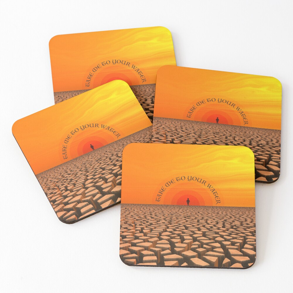 Parched Desert Coasters (Set of 4)
