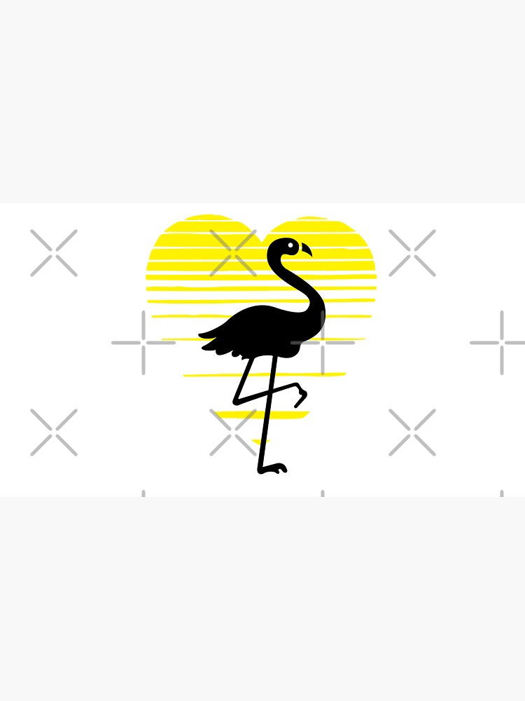 Flamingo lady love silhouette, sunset heart. Flamingo lover gift by CWartDesign