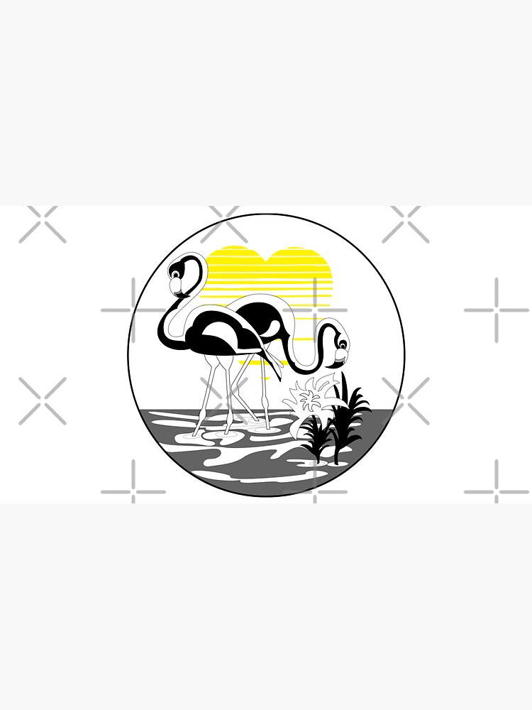 Flamingo love, sunset heart. Flamingo lover gift by CWartDesign