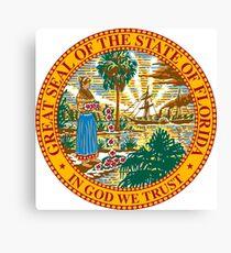 Seal of Florida  Canvas Print