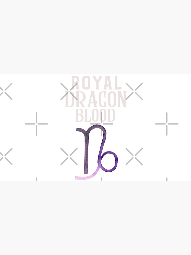 The royal dragon blood Capricorn design by CWartDesign