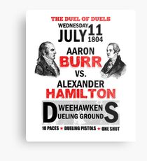 Hamilton Vs Burr Metal Print
