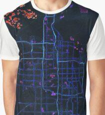 Dark map of Salt Lake City Graphic T-Shirt