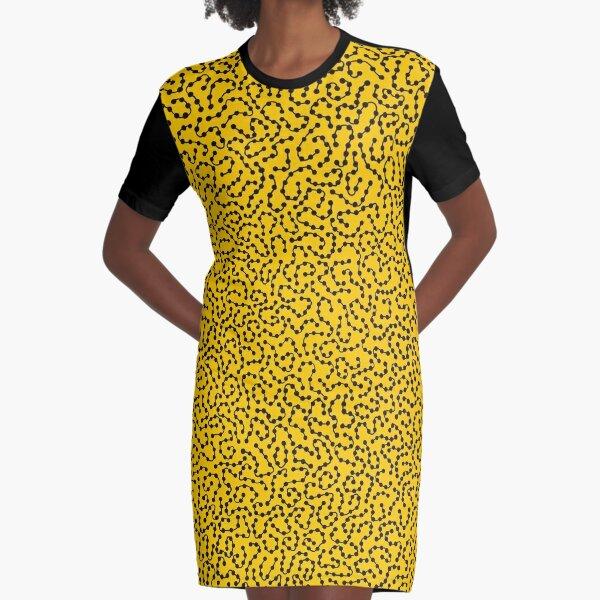 yellow art yayoi kusama Graphic T-Shirt Dress